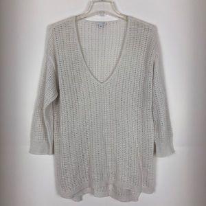 J Jill Womens Sweater V Neck Loose Knit Large